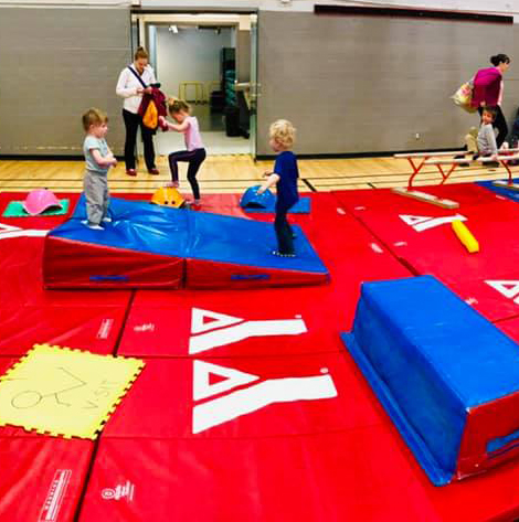 Children play during Healthy Kids Day.